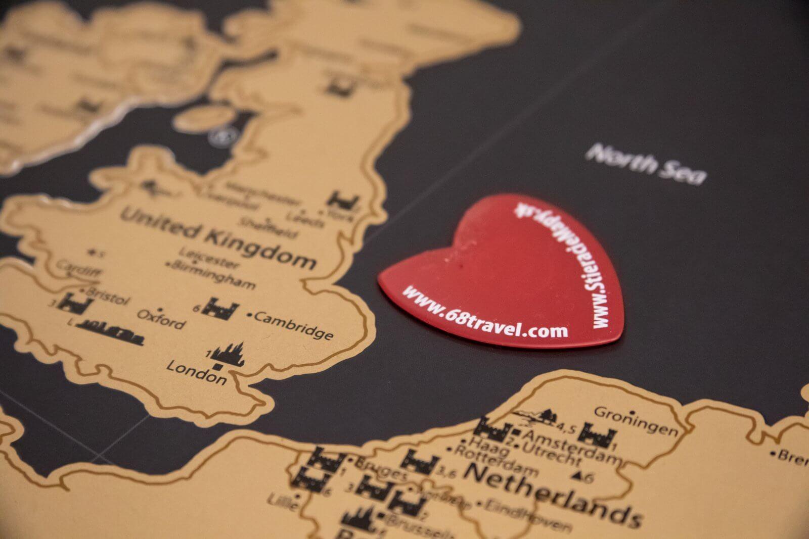 Stieracia mapa Európy - detail trsátka