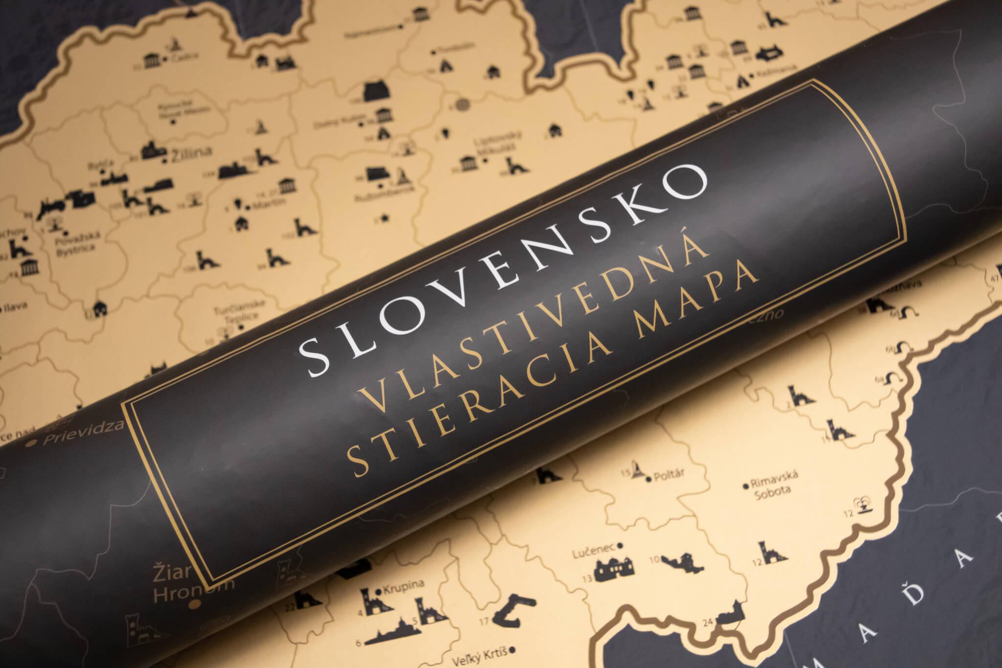 Stieracia mapa Slovenska - Darčekový tubus