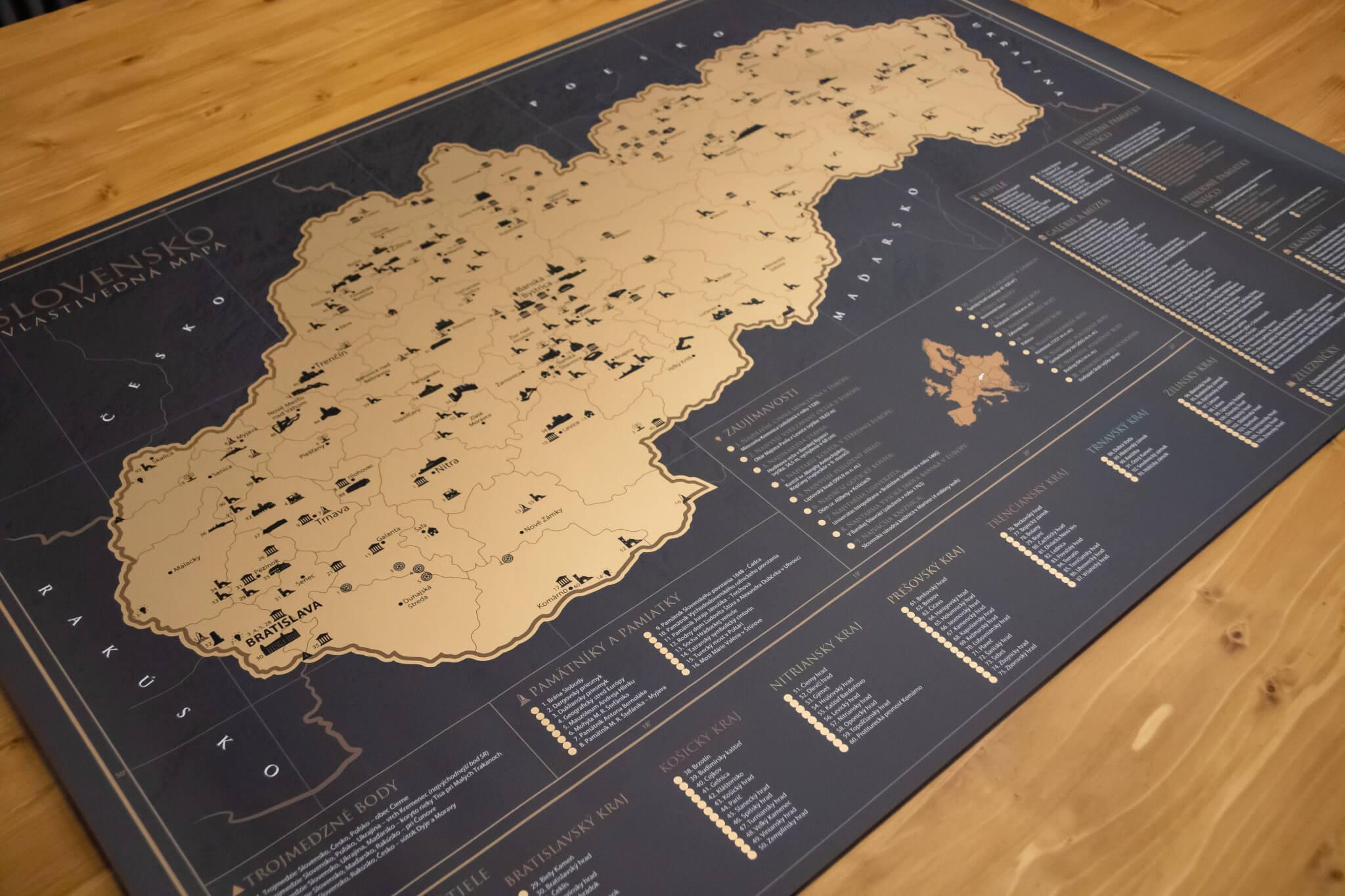 Stieracia mapa Slovenska - Pohľad na celú mapu
