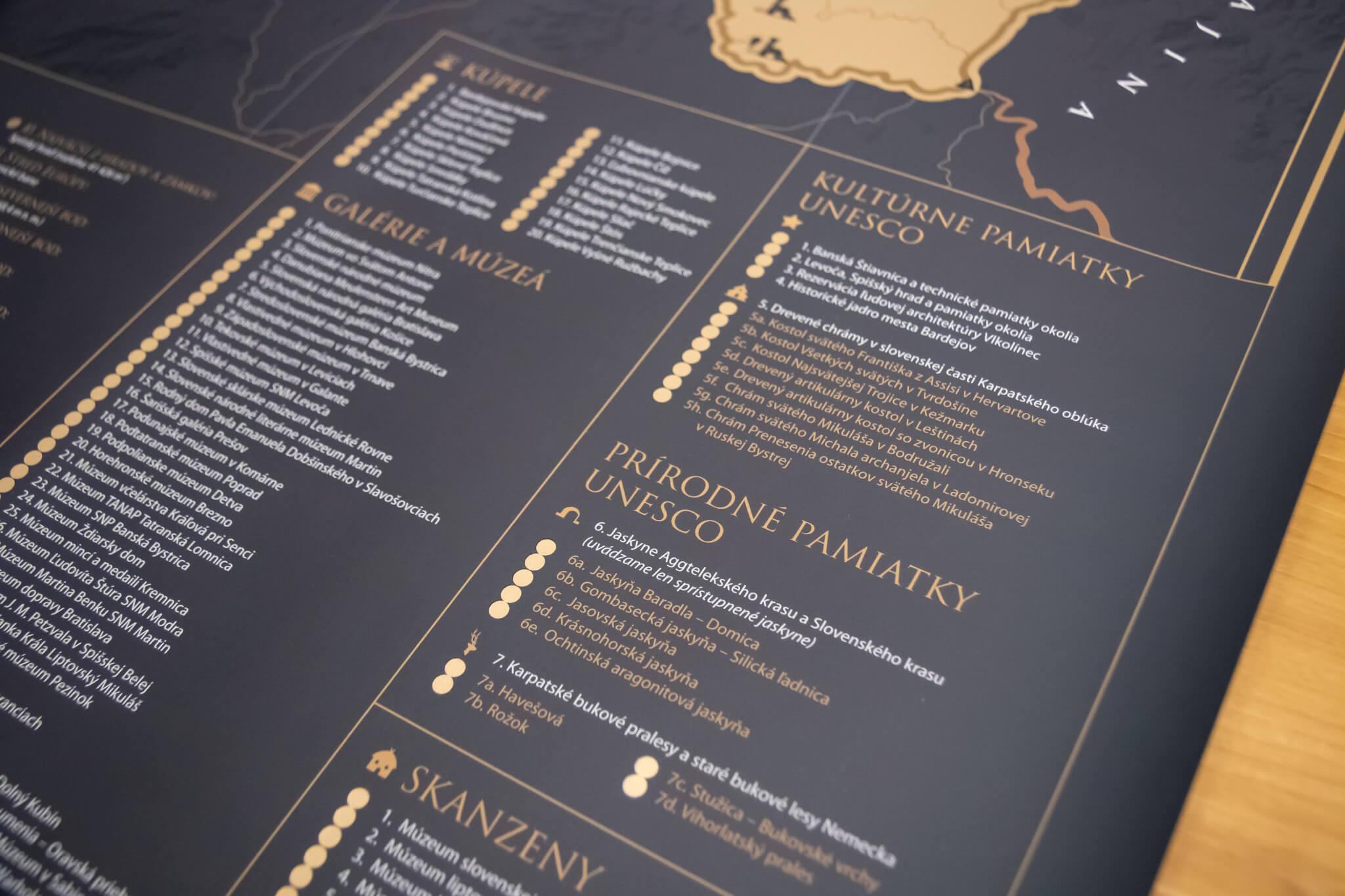 Stieracia mapa Slovenska - Detail sekcií