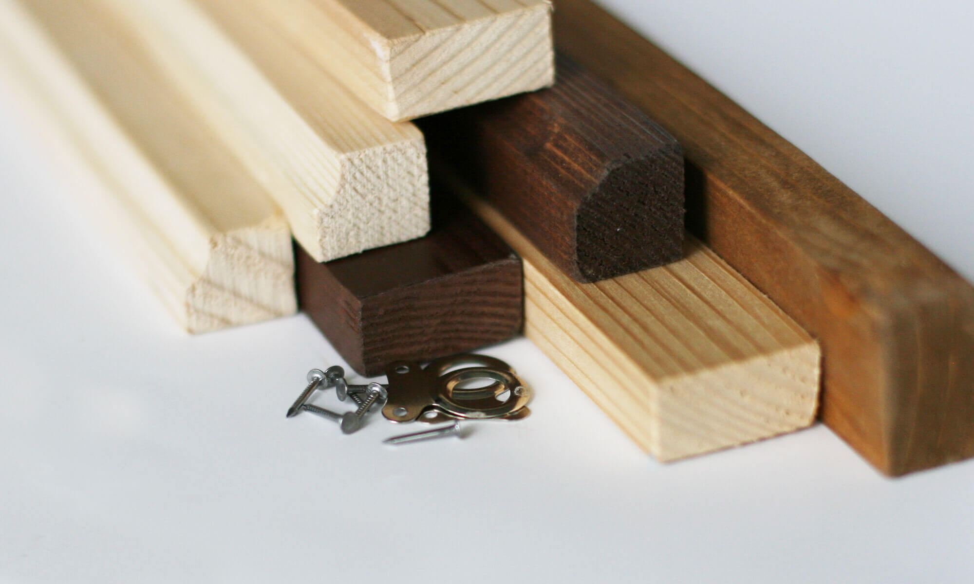 Wooden Wall Bars for A1 Maps - natural / profiled
