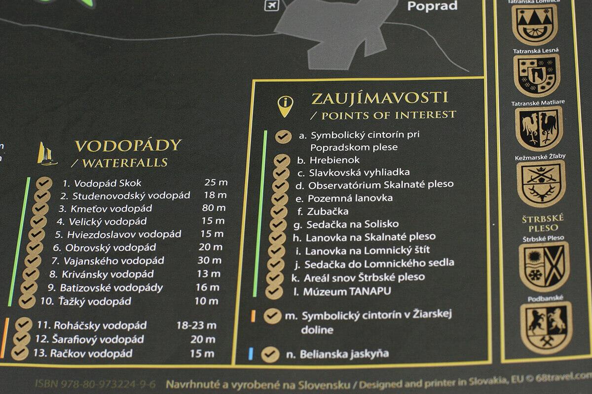 Stieracia mapa Tatier (A3) - detail