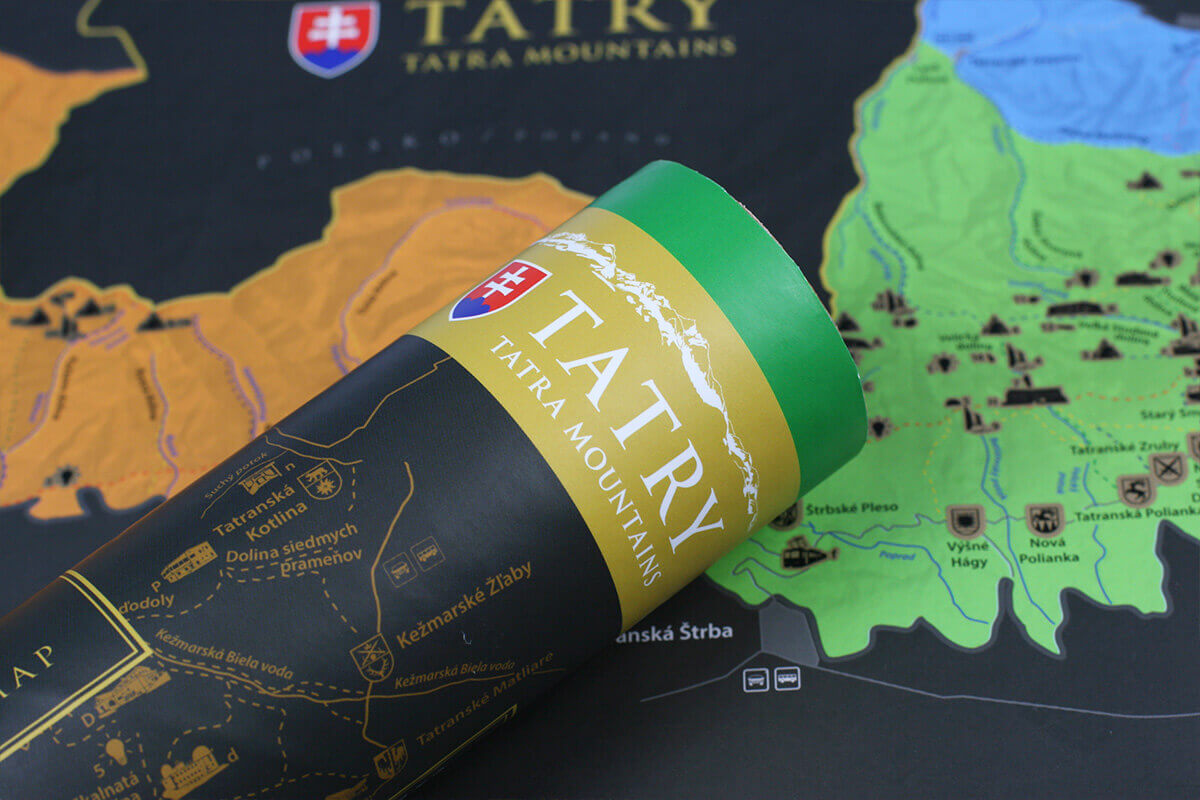 Stieracia mapa Tatier (A3) - detail tubusu