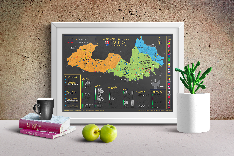 Stieracia mapa Tatier (A3)