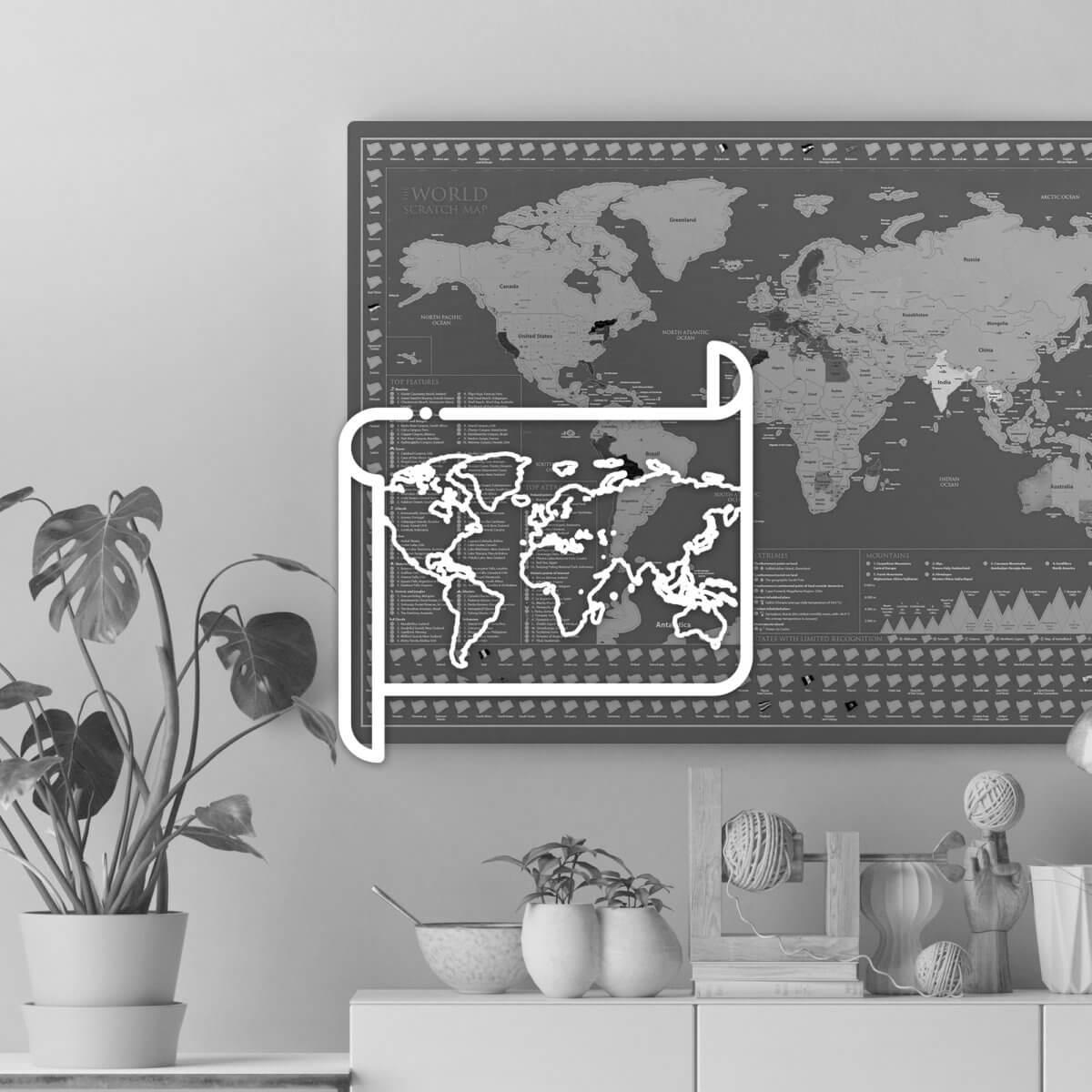 Nástenné mapy a dekorácie
