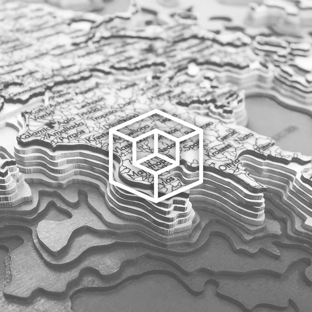 Drevené 3D mapy