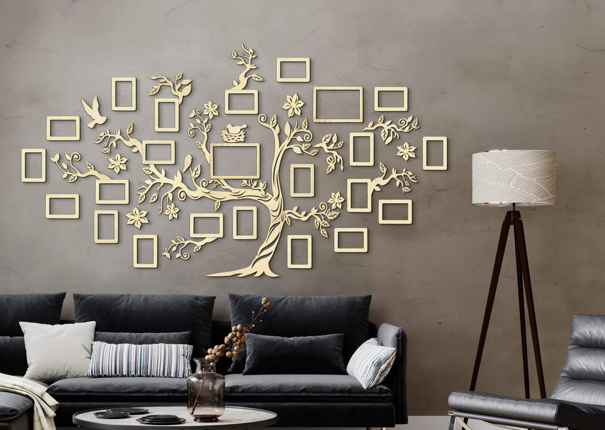 Drevený rodokmeň - dekorácia na stenu - rodostrom