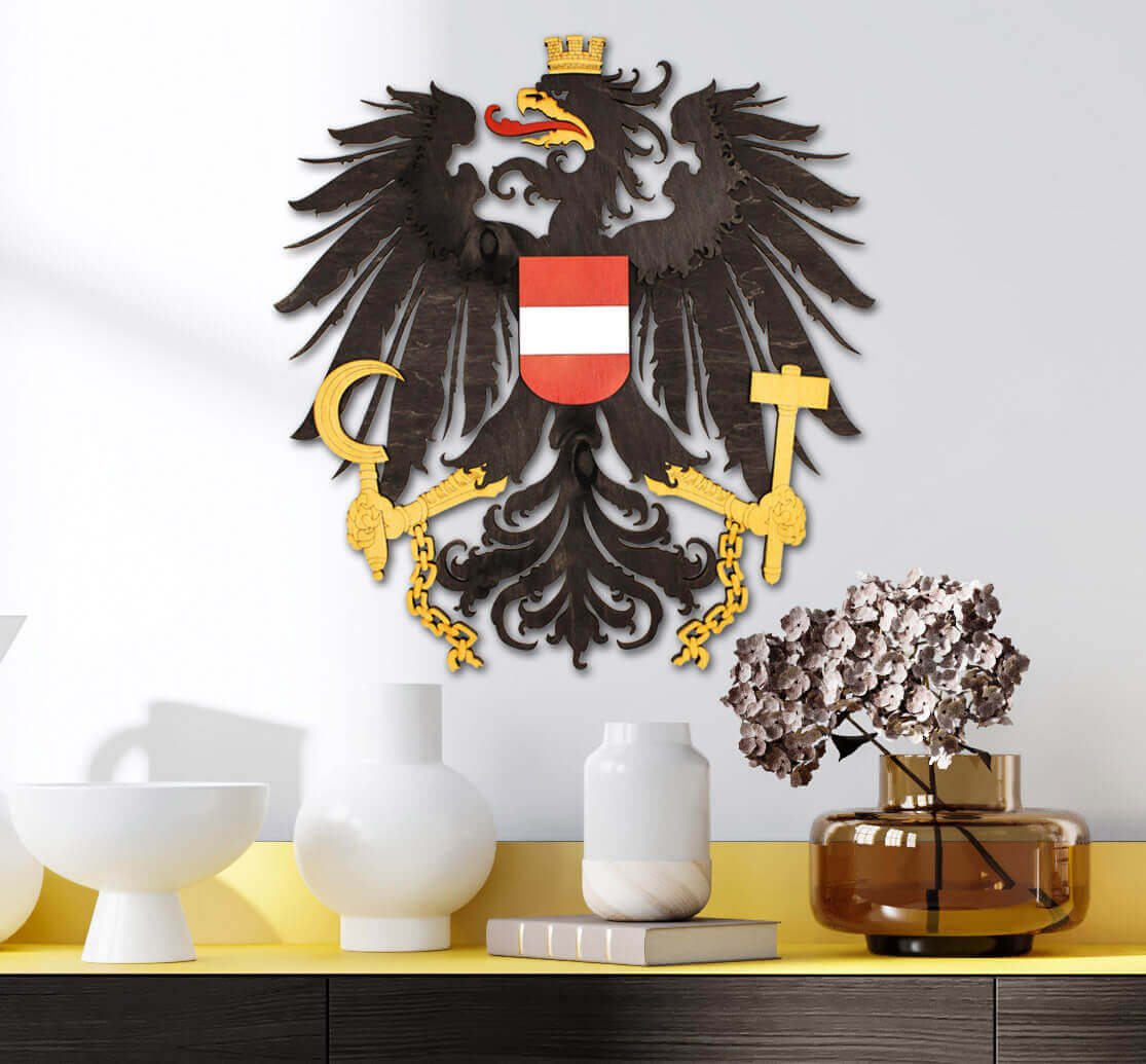 Drevený štátny znak Rakúska